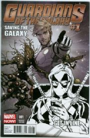 Guardians Of The Galaxy #1 Texts From Deadpool Retail Sketch Variant Marvel comic book Movie